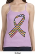 Autism Awareness Ribbon Ladies Spaghetti Strap Tank Top