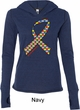 Autism Awareness Ribbon Ladies Tri Blend Hoodie Shirt