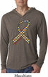Autism Awareness Ribbon Lightweight Hoodie Shirt