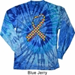 Autism Awareness Ribbon Long Sleeve Tie Dye Shirt