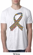 Autism Awareness Ribbon Mens Burnout Shirt