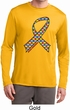 Autism Awareness Ribbon Mens Dry Wicking Long Sleeve Shirt