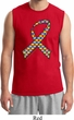 Autism Awareness Ribbon Mens Muscle Shirt