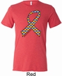 Autism Awareness Ribbon Mens Tri Blend Crewneck Shirt
