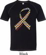 Autism Awareness Ribbon Mens Tri Blend Shirt
