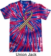 Autism Awareness Ribbon Patriotic Tie Dye Shirt