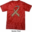 Autism Awareness Ribbon Spider Tie Dye Shirt