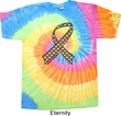 Autism Awareness Ribbon Tie Dye Shirt