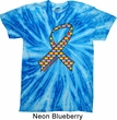 Autism Awareness Ribbon Twist Tie Dye Shirt