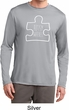 Autism Awareness White Puzzle Dry Wicking Long Sleeve