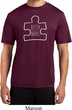 Autism Awareness White Puzzle Dry Wicking T-shirt