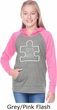 Autism Awareness White Puzzle Girls Long Sleeve Hoodie