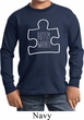 Autism Awareness White Puzzle Kids Long Sleeve Shirt