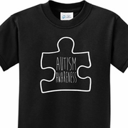 Autism Awareness White Puzzle Kids Shirts
