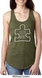 Autism Awareness White Puzzle Ladies Ideal Tank Top