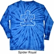 Autism Awareness White Puzzle Long Sleeve Tie Dye