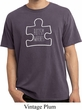 Autism Awareness White Puzzle Pigment Dyed T-shirt