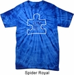 Autism Awareness White Puzzle Spider Tie Dye T-shirt
