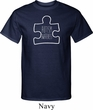 Autism Awareness White Puzzle Tall T-shirt
