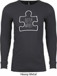 Autism Awareness White Puzzle Thermal Shirt