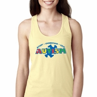 Autism Accept Understand Love Ladies Ideal Tank Top