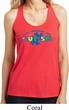 Autism Accept Understand Love Ladies Shimmer Loop Back Tank Top
