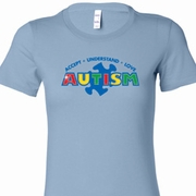 Autism Accept, Understand, Love Ladies Shirts