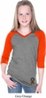 Autism Ribbon Bottom Print Girls V-neck Raglan