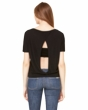 Autism Ribbon Bottom Print Ladies Open Back Shirt