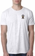 Autism Ribbon Pocket Print Burnout T-shirt