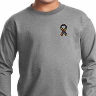 Autism Ribbon Pocket Print Kids Long Sleeve
