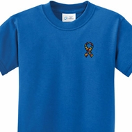 Autism Ribbon Pocket Print Kids Shirts