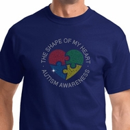Autism Shape of My Heart Mens Shirts