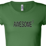 Awesome Cubed Ladies Shirts