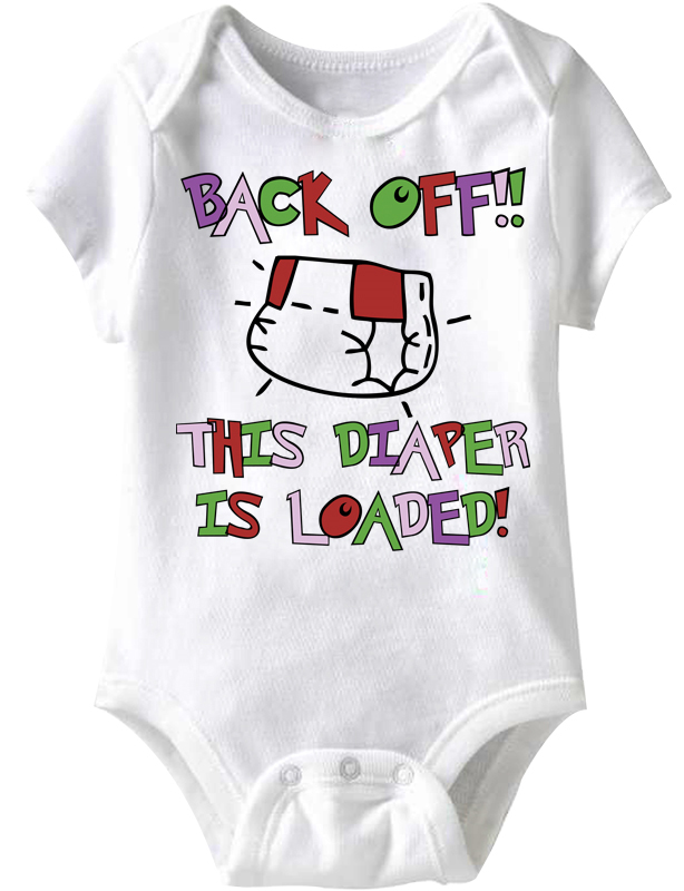 84a9f8389028 Baby Funny Romper Diaper Loaded Infant White Babies Creeper - Funny Baby  Rompers