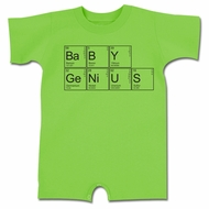 Baby Genius Funny Baby Romper Green Infant Babies Creeper