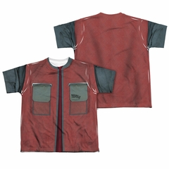 Back To The Future Future Jacket Sublimation Kids Shirt Front/Back Print