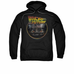 Back To The Future Hoodie Sweatshirt Back Black Adult Hoody Sweat Shirt