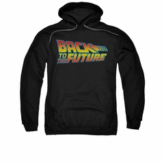 Back To The Future Hoodie Sweatshirt Logo Black Adult Hoody Sweat Shirt