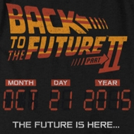 Back To The Future II Future Is Here Shirts