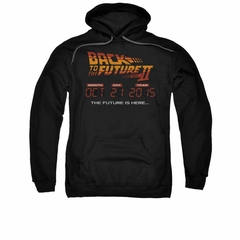 Back To The Future II Hoodie Sweatshirt Future Is Here Black Adult Hoody Sweat Shirt