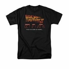 Back To The Future II Shirt Future Is Here Adult Black Tee T-Shirt