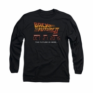 Back To The Future II Shirt Future Is Here Long Sleeve Black Tee T-Shirt