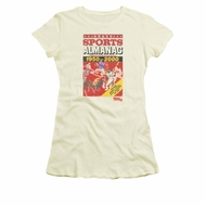 Back To The Future II Shirt Juniors Sports Almanac Cream Tee T-Shirt