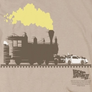 Back To The Future III Pushing The Delorean Shirts