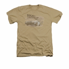 Back To The Future III Shirt Cowboys And Indians Adult Heather Sand Tee T-Shirt