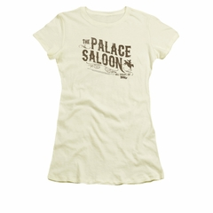 Back To The Future III Shirt Juniors Palace Saloon Cream Tee T-Shirt