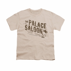 Back To The Future III Shirt Kids Palace Saloon Cream Youth Tee T-Shirt