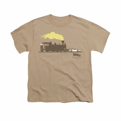 Back To The Future III Shirt Kids Pushing The Delorean Sand Youth Tee T-Shirt