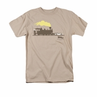 Back To The Future III Shirt Pushing The Delorean Adult Sand Tee T-Shirt